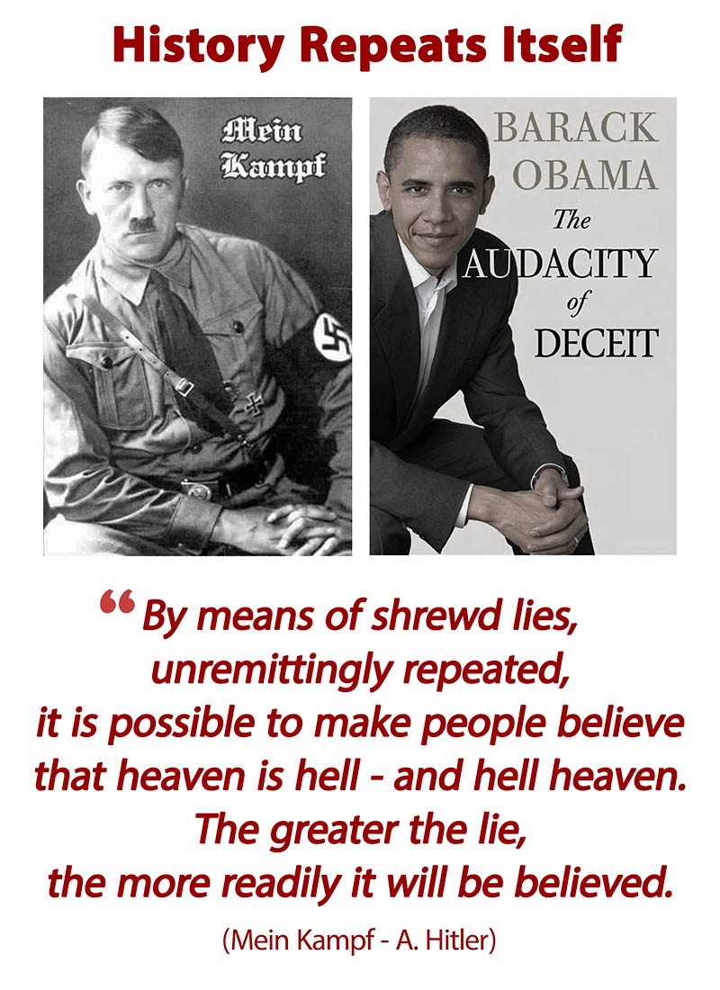 Obama lies like Hitler